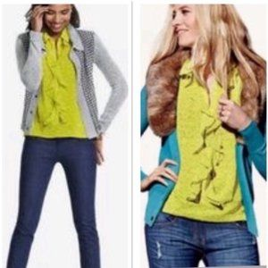Cabi 3071 chartreuse reign blouse